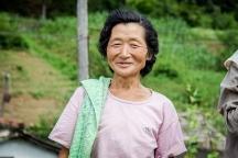 agricultora. interior, perto de Hyangsan
